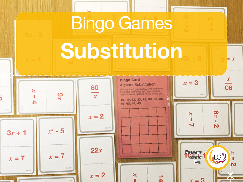 Algebra Substitution | Bingo Game