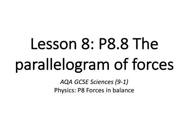P8.8 The parallelogram of forces