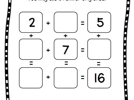 Magic Square Puzzle Bundle: Addition & Subtraction Math Facts