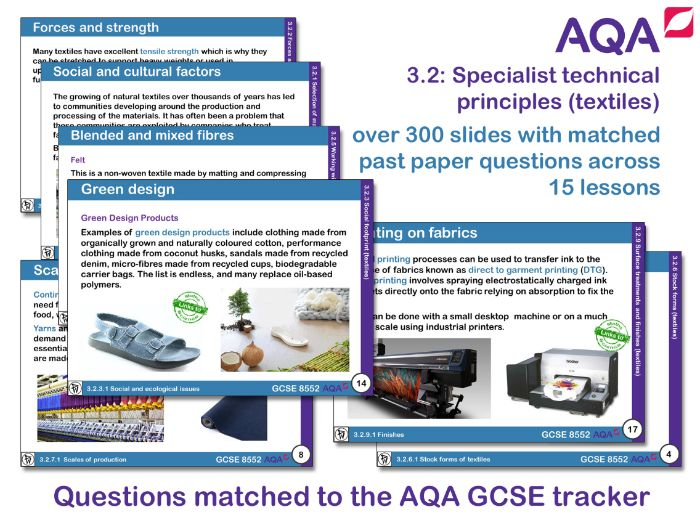 AQA GCSE Design and Technology 3.2: Specialist technical principles (Textiles)