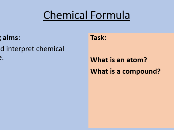 KS3 Writing Chemical Formulae