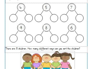 Part Whole Models Worksheets Year 1