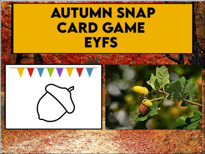 Autumn Snap Card Game EYFS / KS1