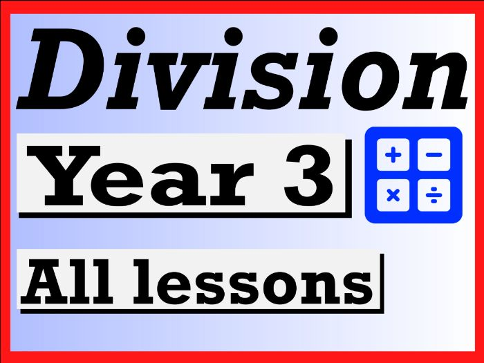 Year 3 Division