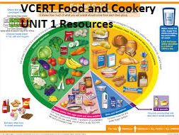 VCERT Food and Cookery UNIT 1 Resources Level 1 and Level 2 (x11 very useful documents)