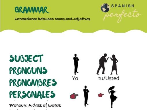 Concordance between nouns and adjectives.