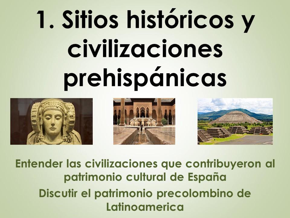 AQA New AS/A Level Spanish El patrimonio cultural: Sitios históricos y civilizaciones prehispánicas