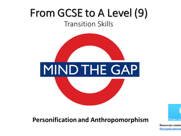 GCSE to A Level Transition: Personification and Anthropomorphism
