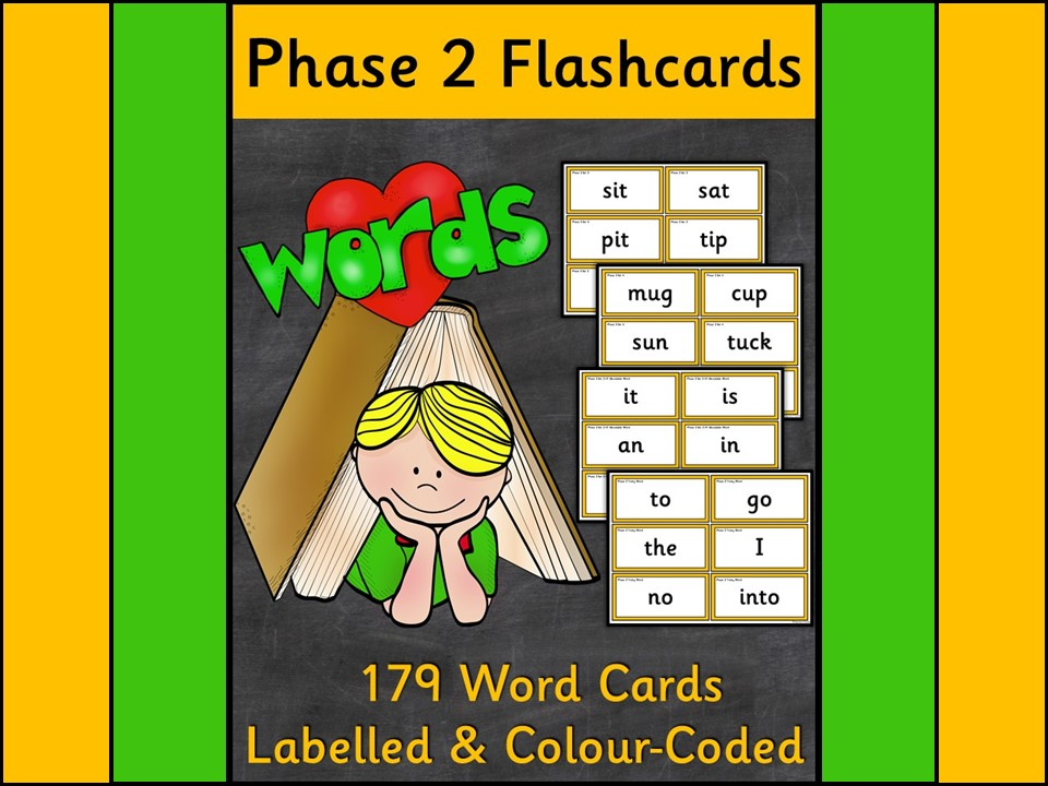 Phonics: Phase 2 Word Flashcards