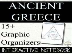 Ancient Greece Interactive Notebook Graphic Organizers for Ancient Greece