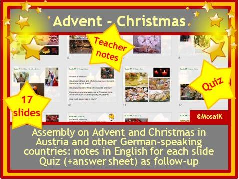Christmas Assembly Advent and Quiz