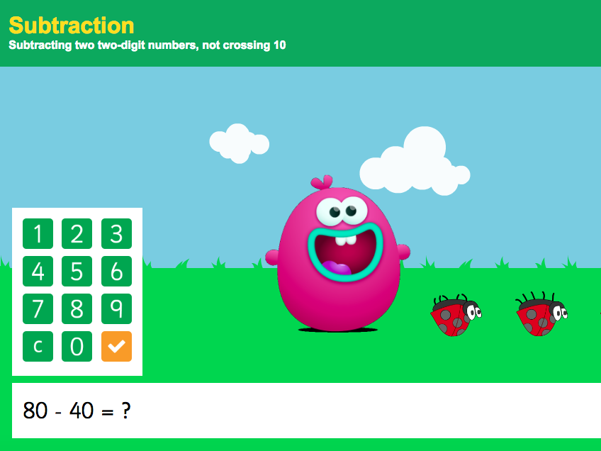 Subtraction to 100 - Subtracting Two Two-Digit Numbers Interactive Game 1 - KS1 Number