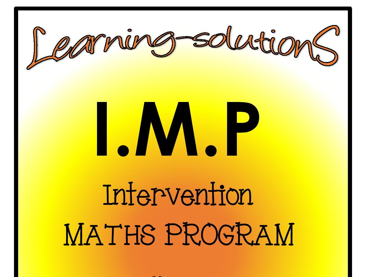 INTERVENTION MATHS PROGRAM BUNDLE - IMP Year 3 - Includes SCREENERS, ACTIVITIES, ANSWER BOOK and GAMES