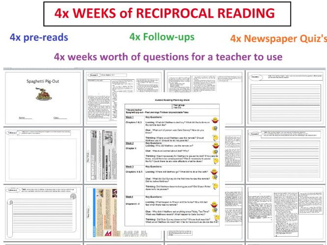 2 reciprocal reading booklet 4 weeks of activities spaghetti pig out guided reading by. Black Bedroom Furniture Sets. Home Design Ideas
