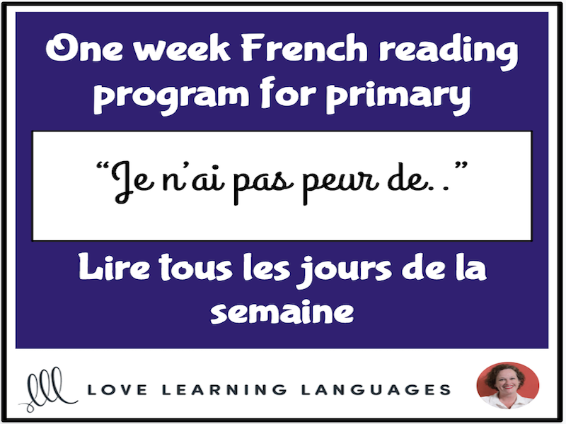 Lire tous les jours de la semaine #4 - French primary reading program