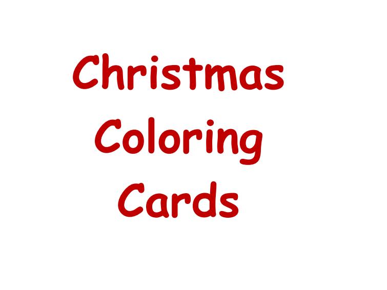 Christmas Coloring Pages - Grades K-1 - PDF