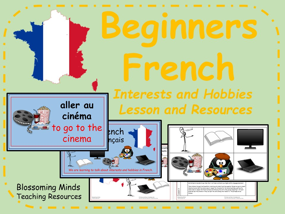 French lesson and resources - KS2 - Hobbies and Interests