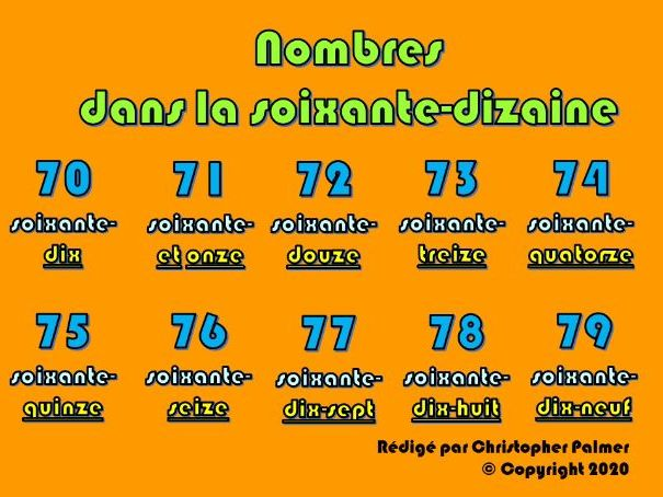 Key Stage 3 French: Numbers in the 70s (with age and 'il' and 'elle' and 'mon/ma/ton/ta')