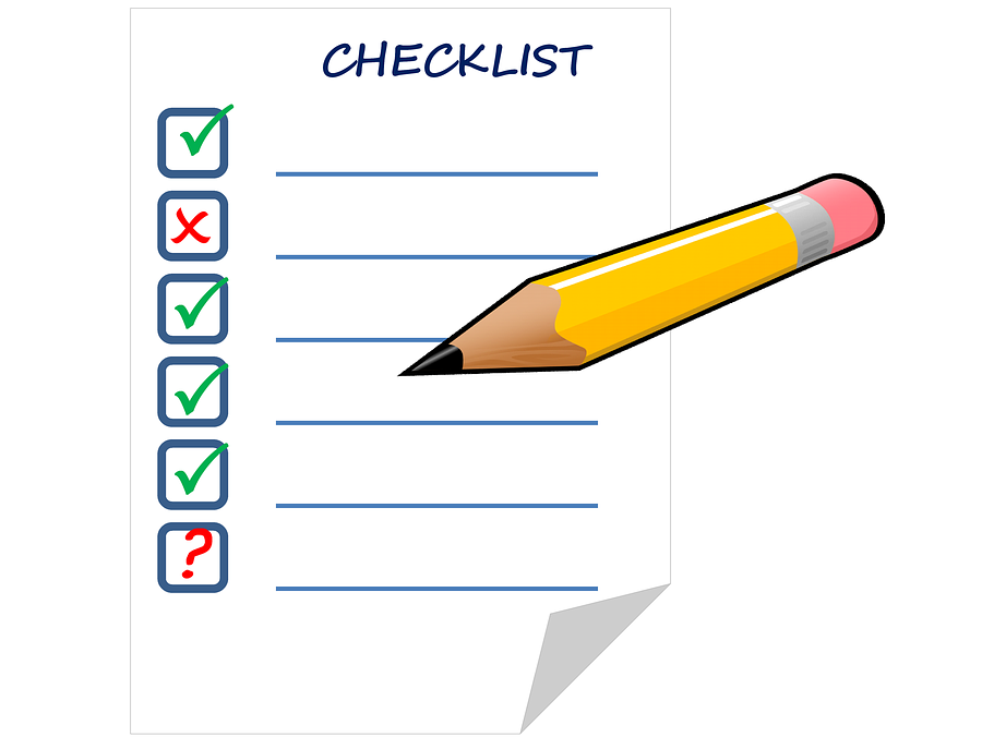 TICK LIST for planning lessons  that 'STAND OUT'