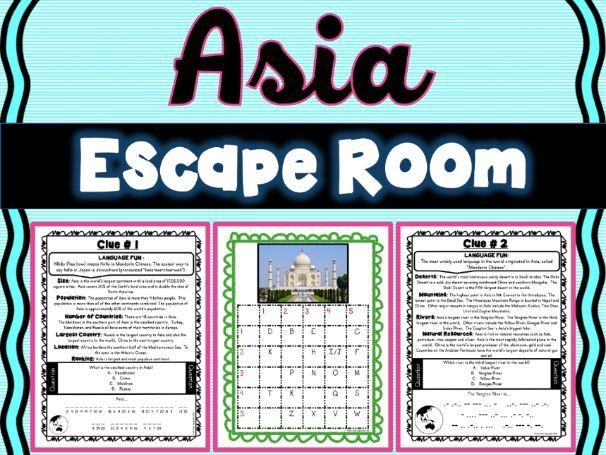 Asia ESCAPE ROOM! Continents and Geography