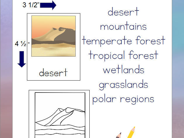 Biomes of the World - Montessori 3-Part Cards