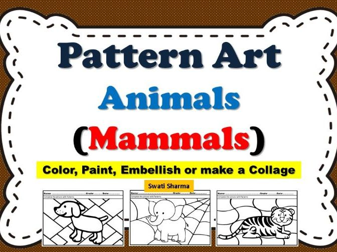 Art Project Pattern/Pop Art Animals/Mammals