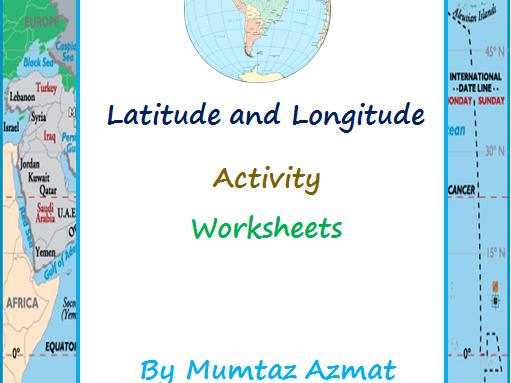 Latitude and Longitude Activity Worksheets