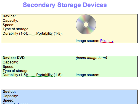 GCSE Computer Science: Hardware lesson 4 (Secondary storage)