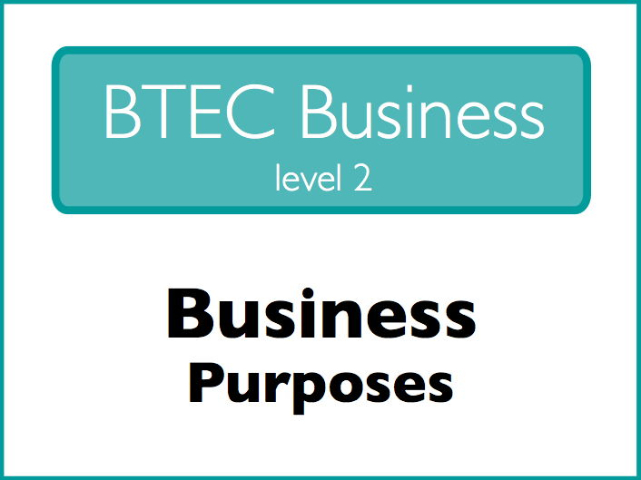 Business Studies: business purposes