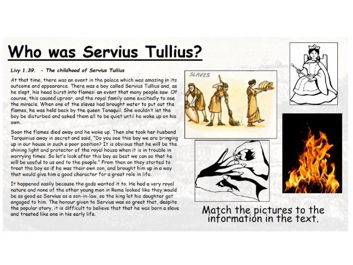 How did Servius Tullius become king of Rome and what impact did he have?