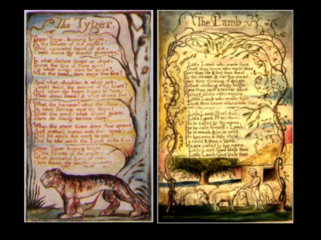 """""""The Lamb"""" and """"The Tyger"""" worksheet"""