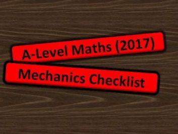A Level Maths 2017 Mechanics Checklist