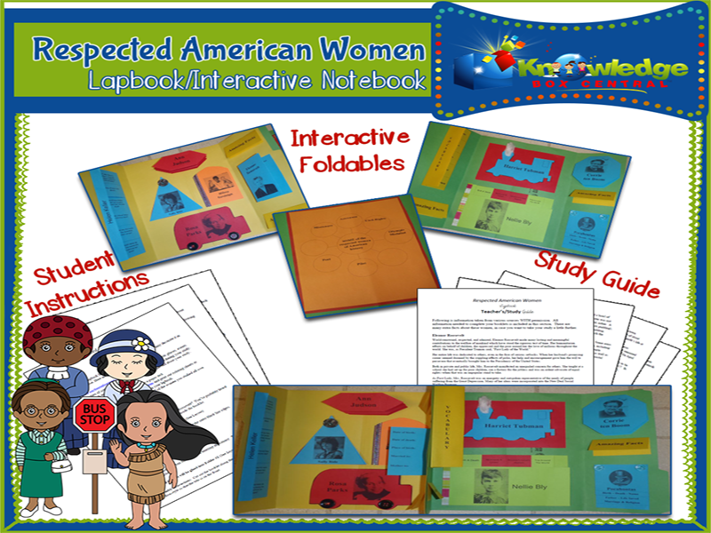 Respected American Women Lapbook