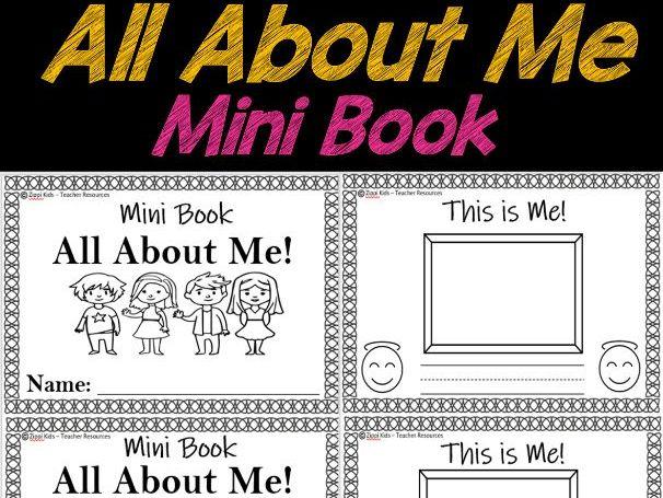 All About Me - Mini Book   Back to School   Emergent Reader Prek, Kindergarten