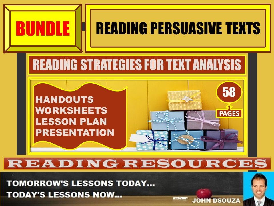 READING PERSUASIVE TEXTS BUNDLE