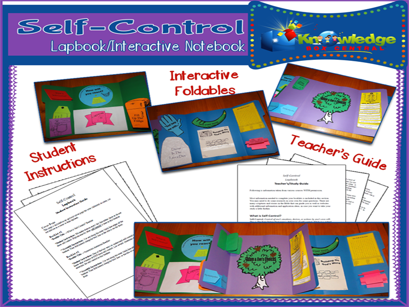 Self-Control Lapbook