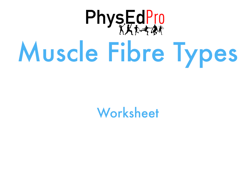 GCSE PE – Muscle Fibre Types - Worksheet or Homework Activity– IGCSE