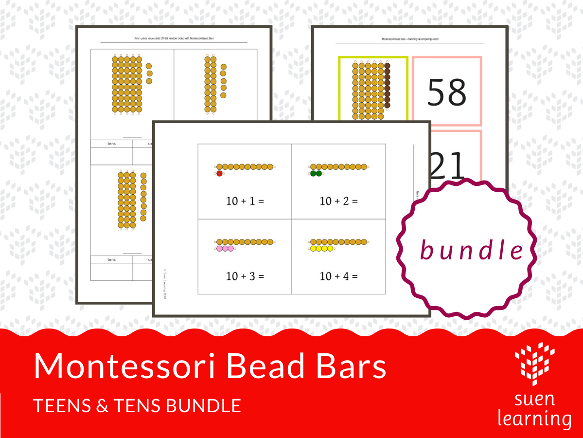 Montessori Teen & Ten Boards extension activity BUNDLE