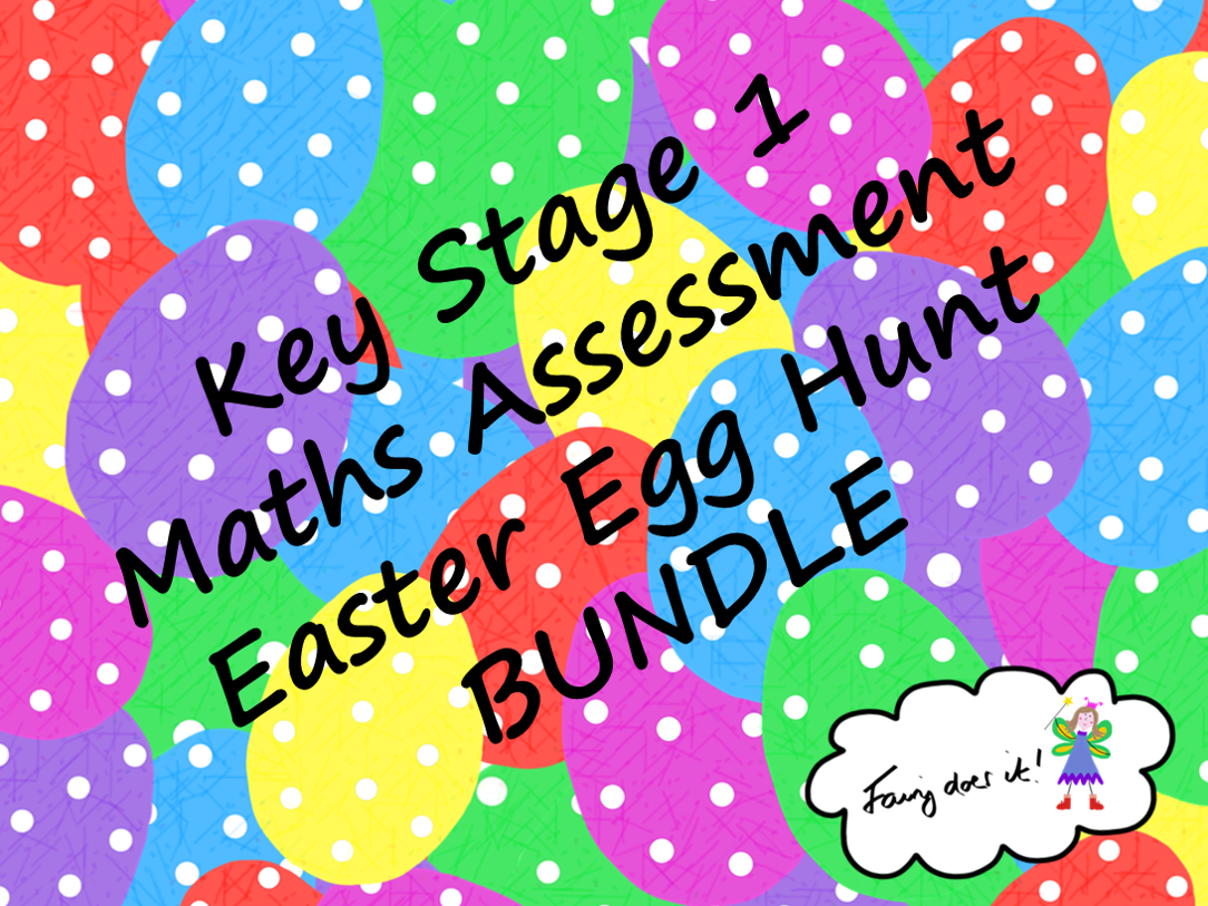 Key Stage 1 Maths Assessment Easter Egg Hunt BUNDLE