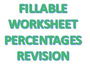 Fillable Maths Worksheet - Percentages