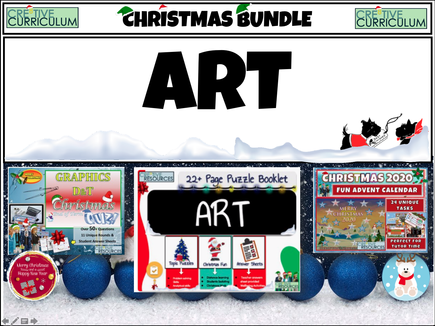 Art Christmas Quiz Bundle