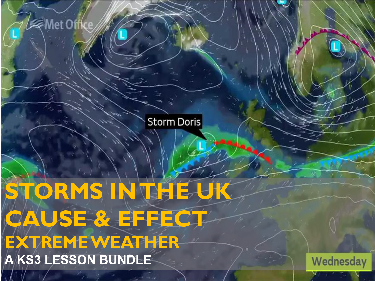 Extreme Weather : Storms in the UK - Cause & Effect Bundle