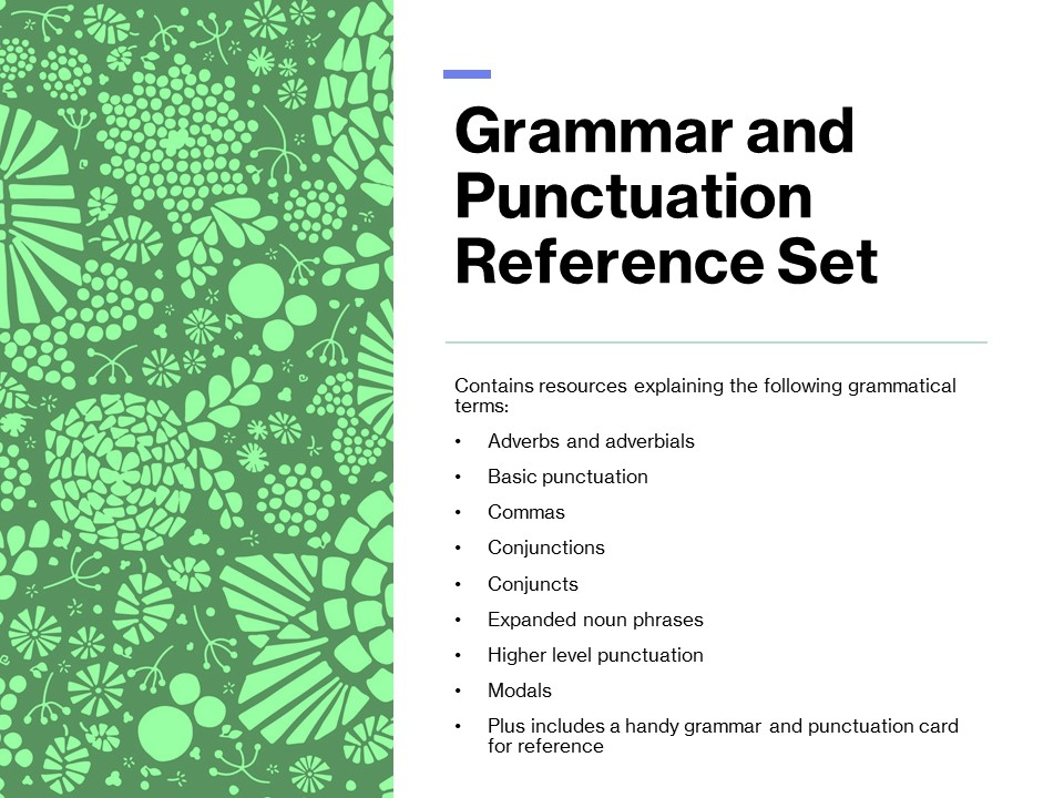 Grammar and Punctuation KS2 Reference Set