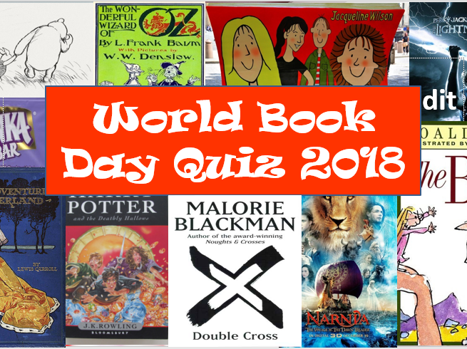 KS3 World Book Day Quiz 2018