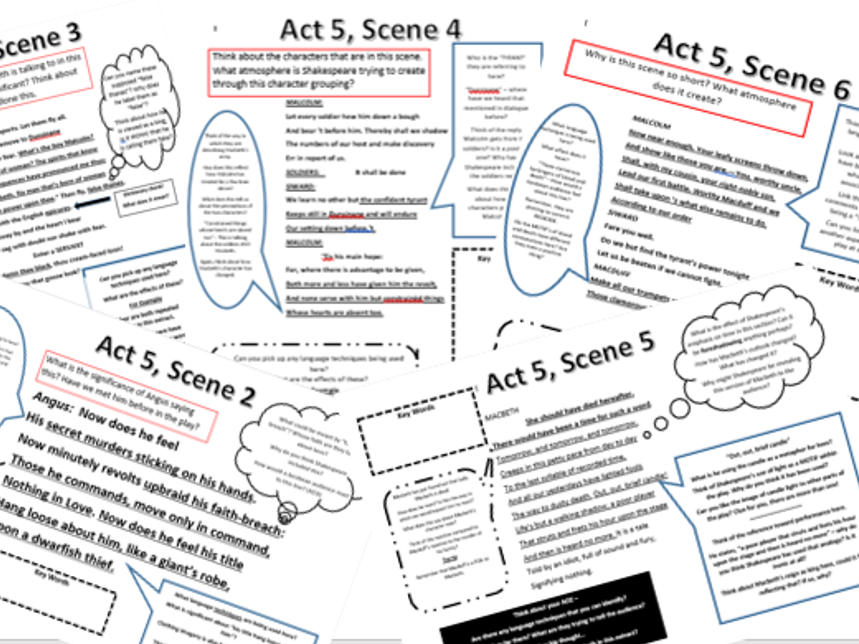 Macbeth: Act 5, Scene 2-6