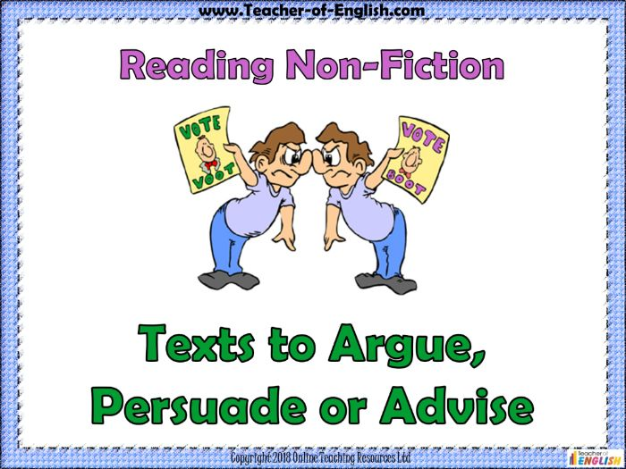 Argue, Persuade and Advise (PowerPoint and worksheets)