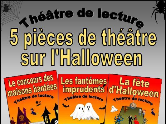 Five French Halloween Plays (Reader's Theatre)