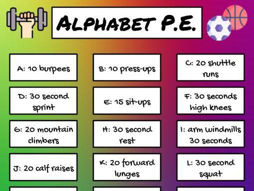 Alphabet P.E. Fitness