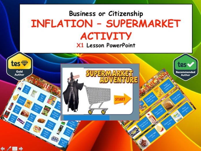 Interactive Fun lesson on Inflation (Supermarket prices) Business Citizenship Financial Education
