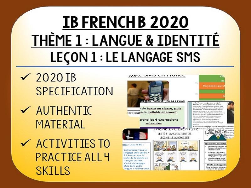 IB FRENCH B 2020 - Langue & Identité - L1